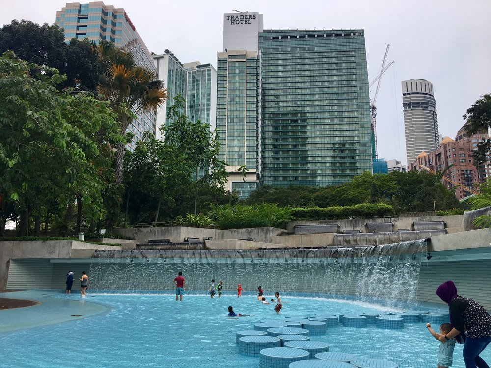 Petronas Park had an amazing water park. Perfect for hot, muggy urban days.