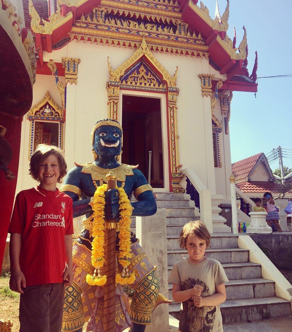 Guardians of the Temple at Karon, Phuket.