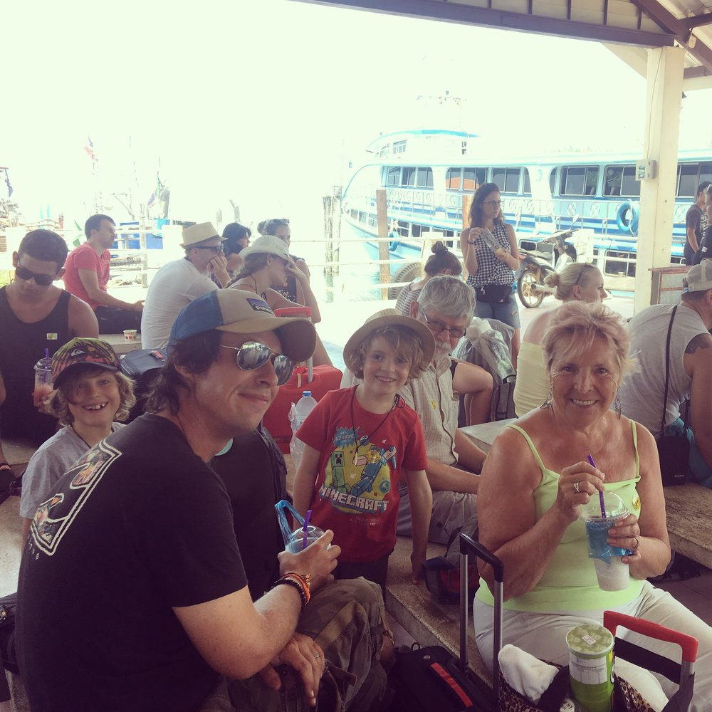 Waiting for the ferry back to Phuket from Koh Fanta.