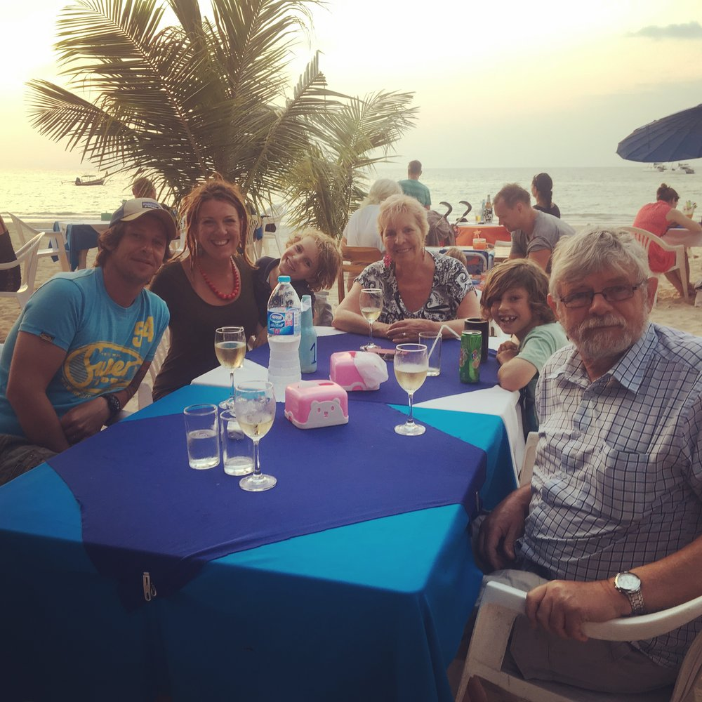 The last supper, at Good View restaurant in Naiyang beach, Phuket.