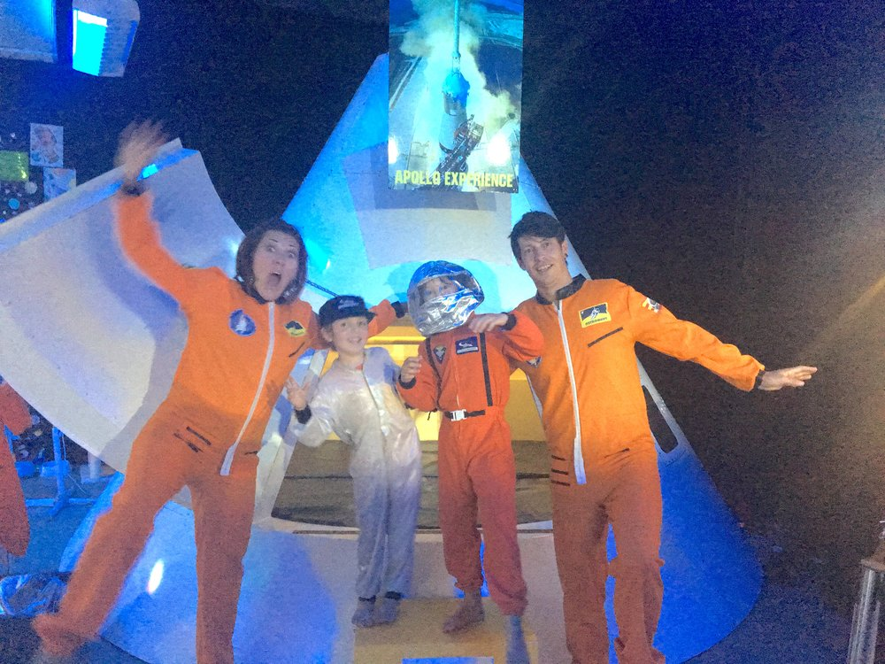 Carnarvon Space Museum was great for learning- we went up in a simulated rocket then got to wear SILLY COSTUMES.