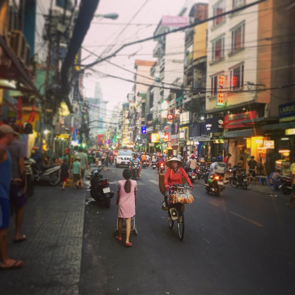 The Backpacker district at Ho Chi Minh had everything you could need. Food, souvenirs, laundry, Sports bars...?!