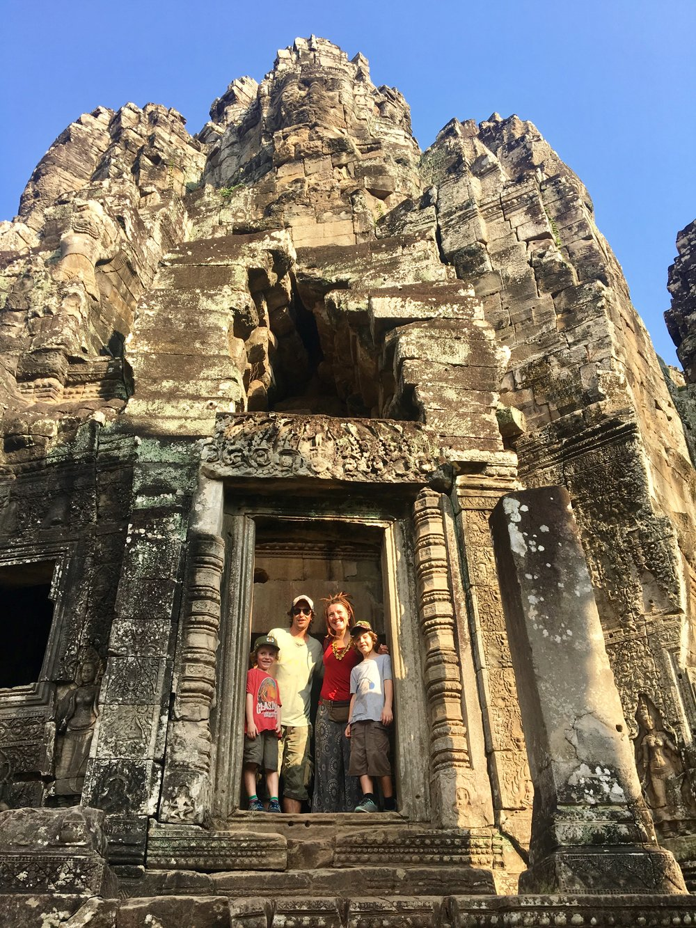 At Bayon temple, Angkor.