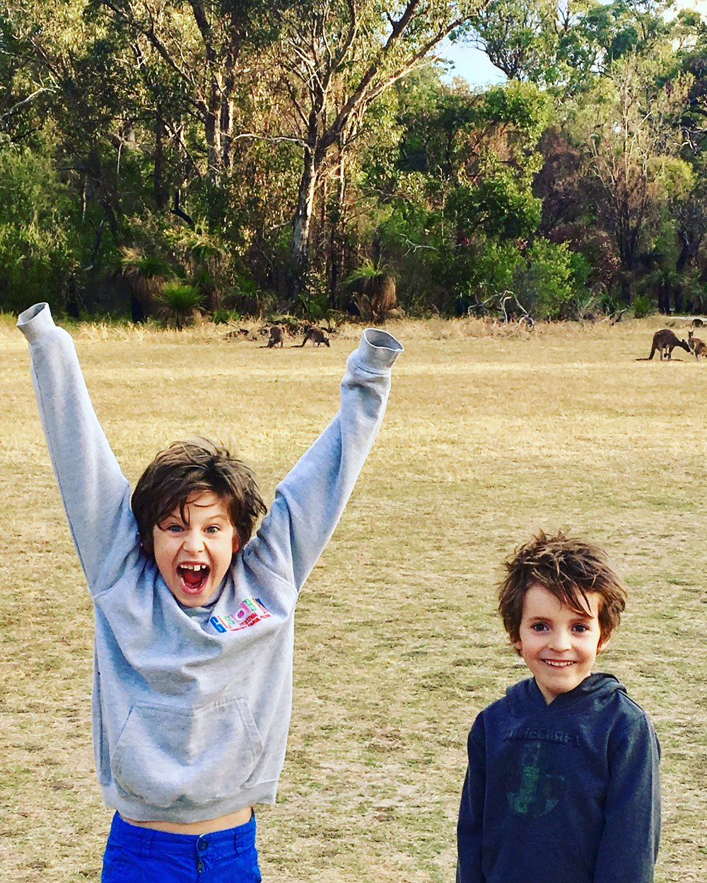 When they first saw kangaroos. Yanchep National Park.