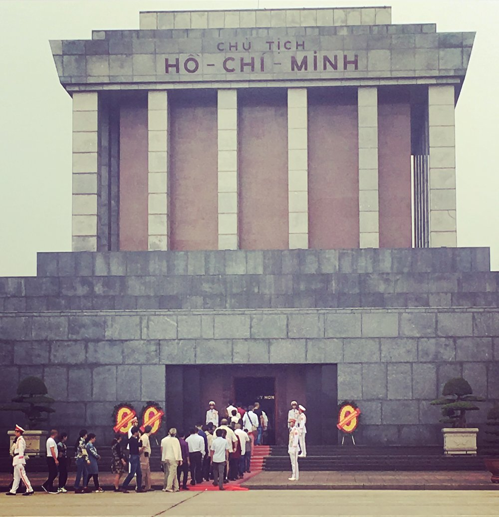 Our last day in Hanoi: Ho Chi Minh's Mausoleum.