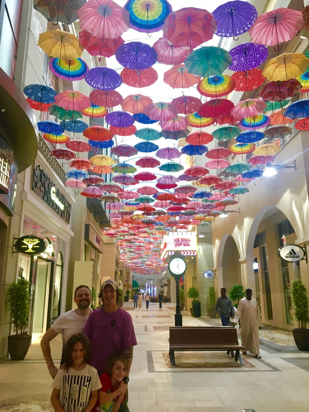 A pretty walkway in Dubai Mall