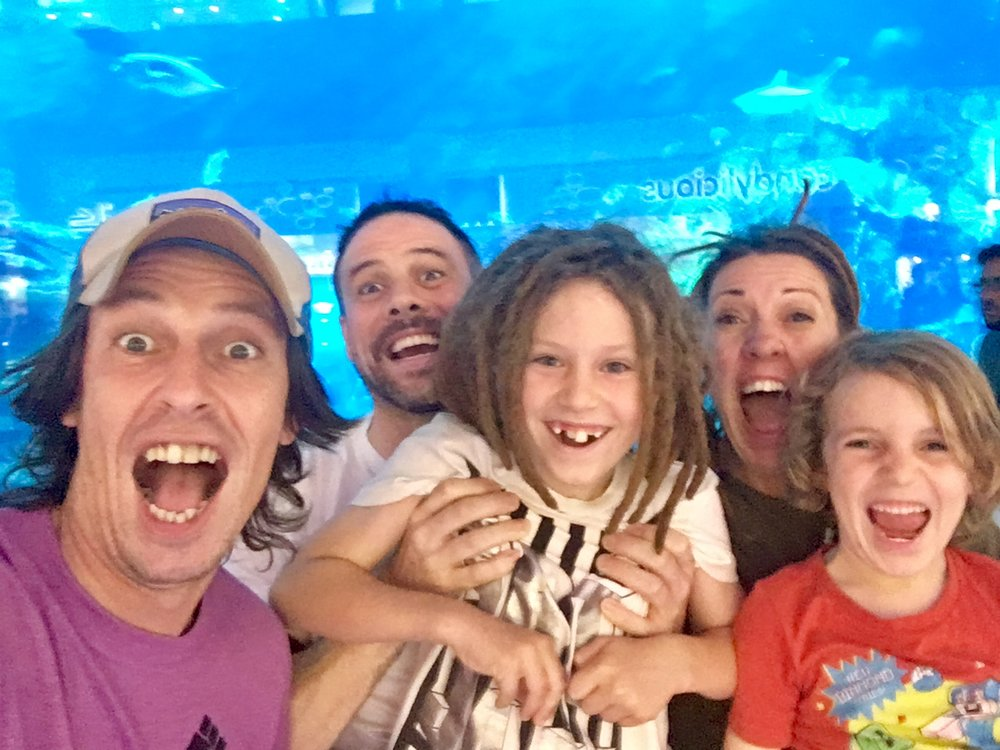 We were very excited about the aquarium in the mall. Rays and sharks and beautiful fish- you could pay to go inside but there was no need. You could see loads from outside.