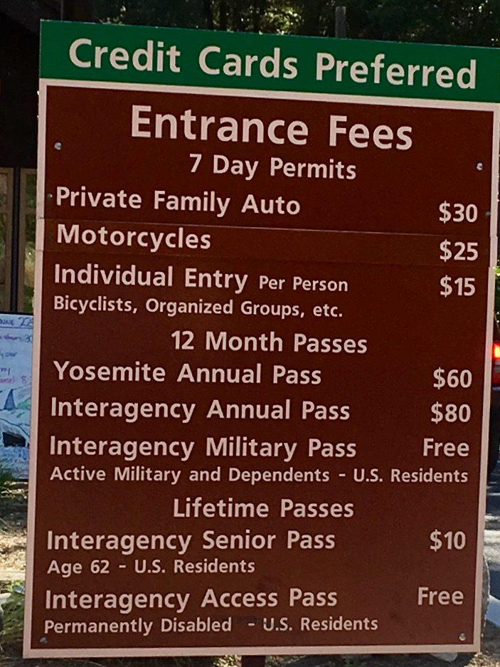 Entrance fees. We should have bought an Annual Pass though.