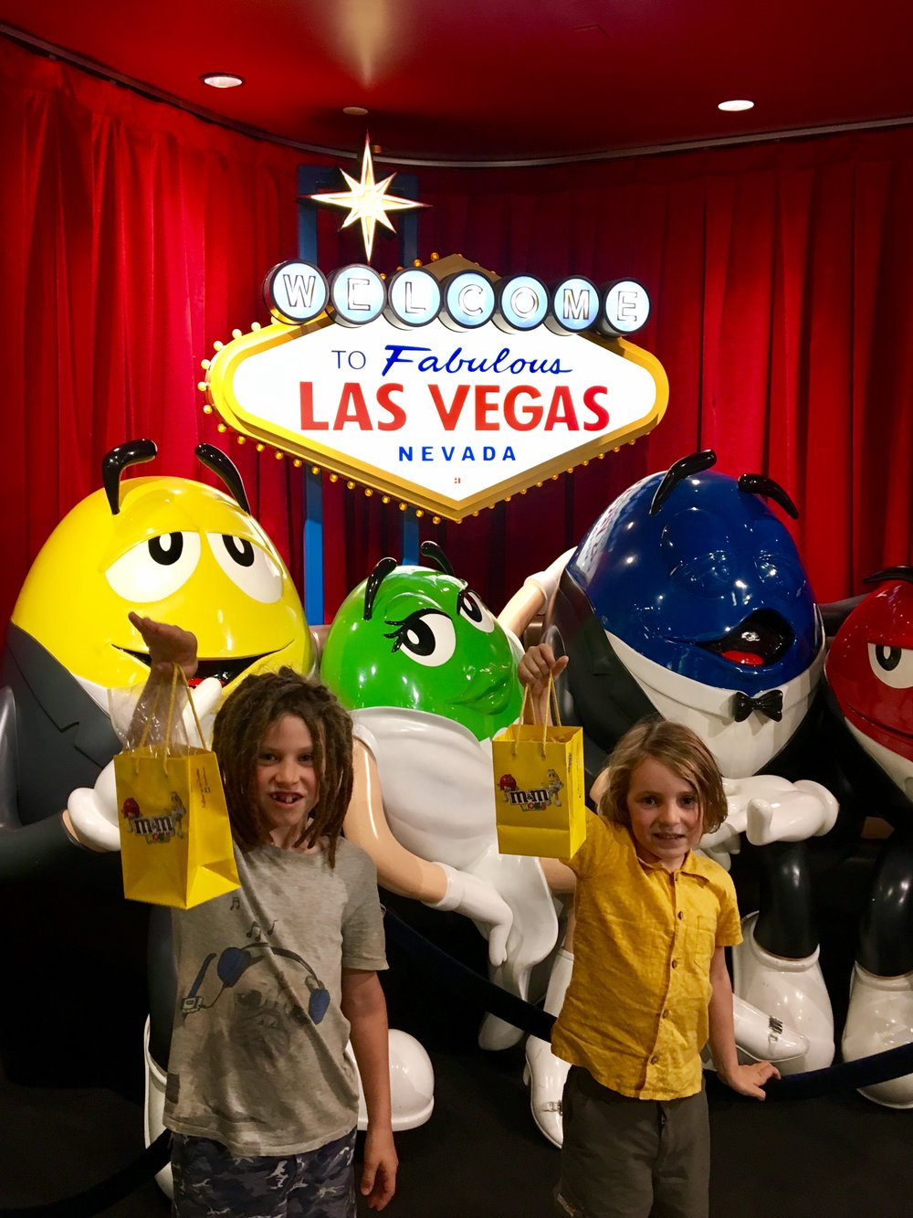 We liked the M & M factory at Las Vegas.