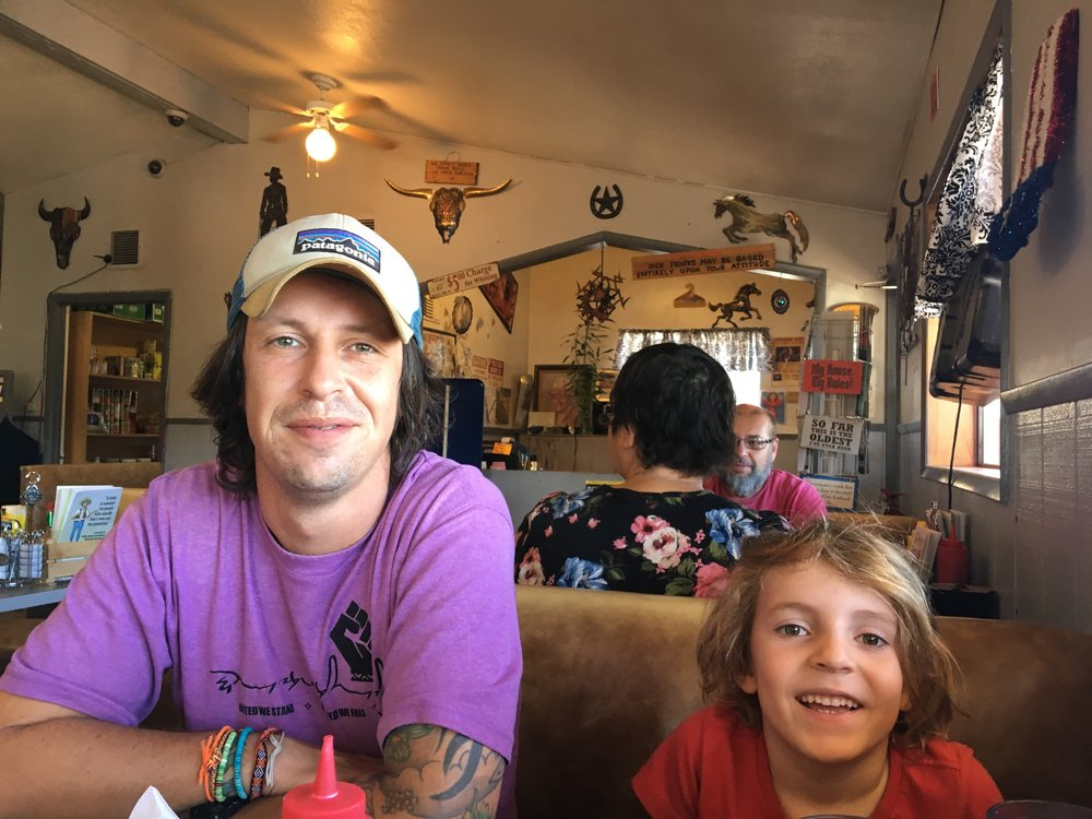 Ashfork Diner, Arizona. Good coffee. Loads of food. Also signs telling you not to bother complaining which seemed ominous.