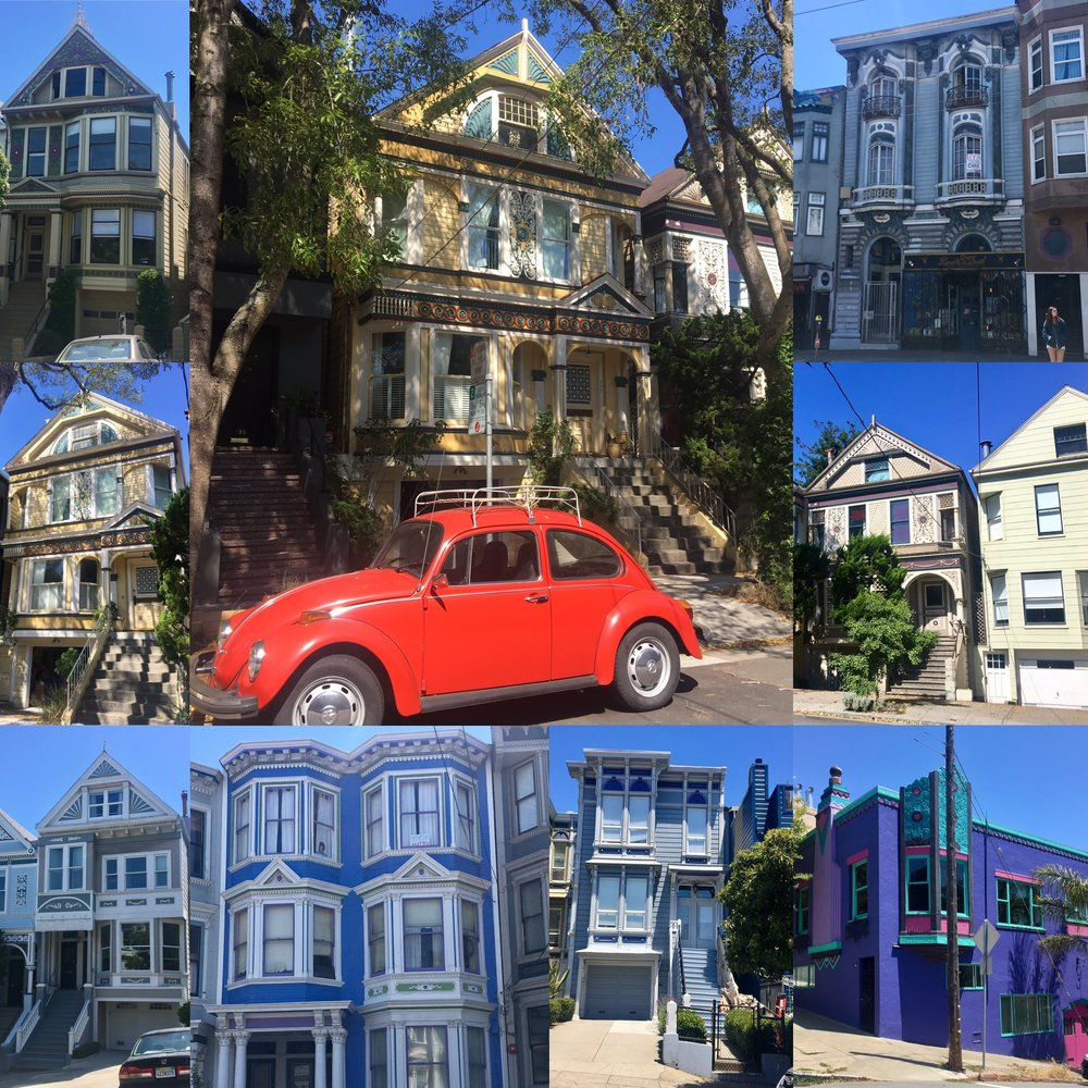 Colourful houses in San Fransisco.