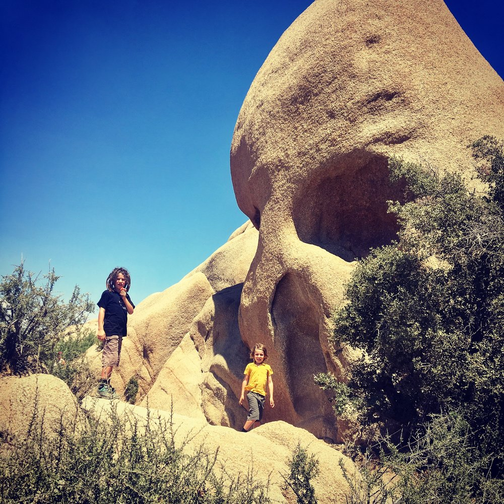 Playing at Skull Rock.