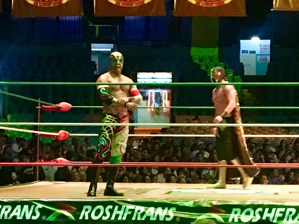 Lucha Libre- Mexican wrestling. SO LOUD so BRIGHT so MUCH FUN (until we had enough)