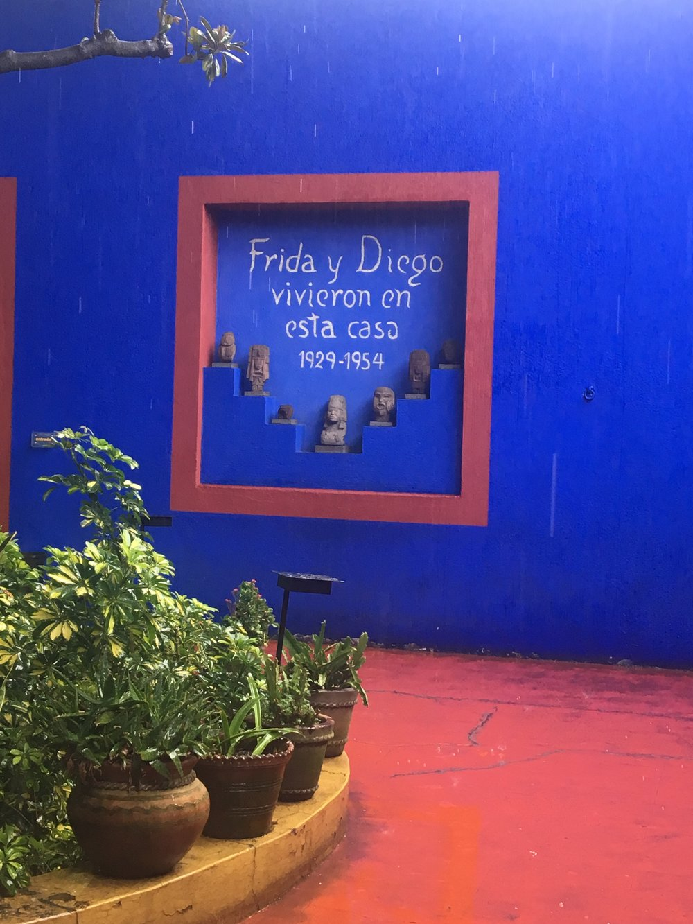 Being near Frida and Diego's house was a big draw for us- so we went there to visit on the first day. There is another post coming about our visit, but rest assured, we went there with whistles and bells on.