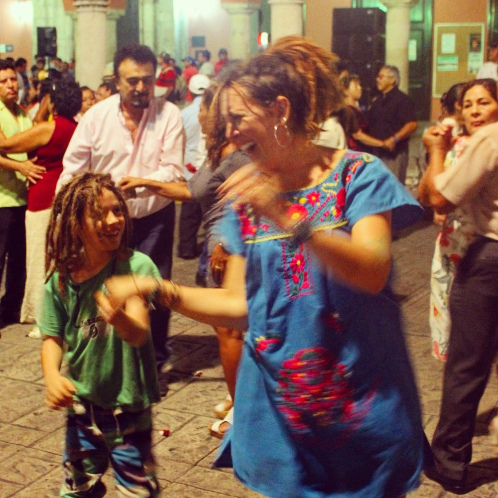 Trying to dance in Merida.