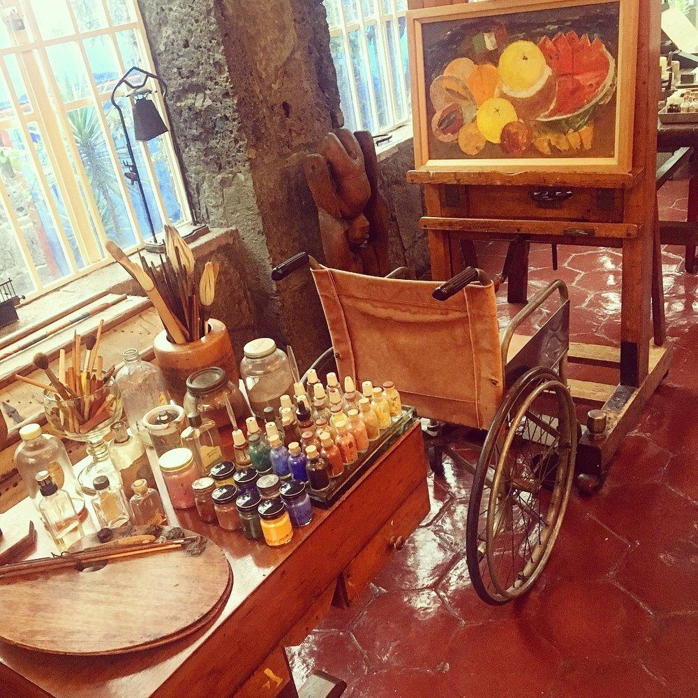 Frida's studio.