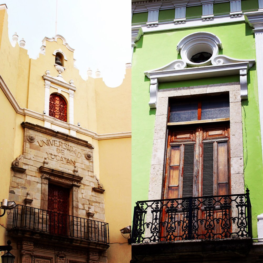 The balconies of Merida were beautiful in the old colonial style.