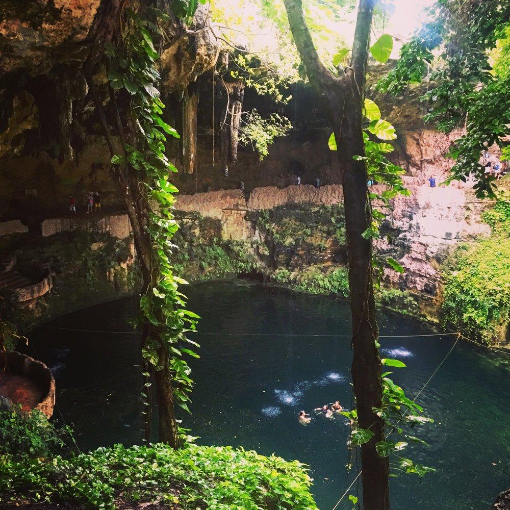 Zaci Cenote in Valladolid town.