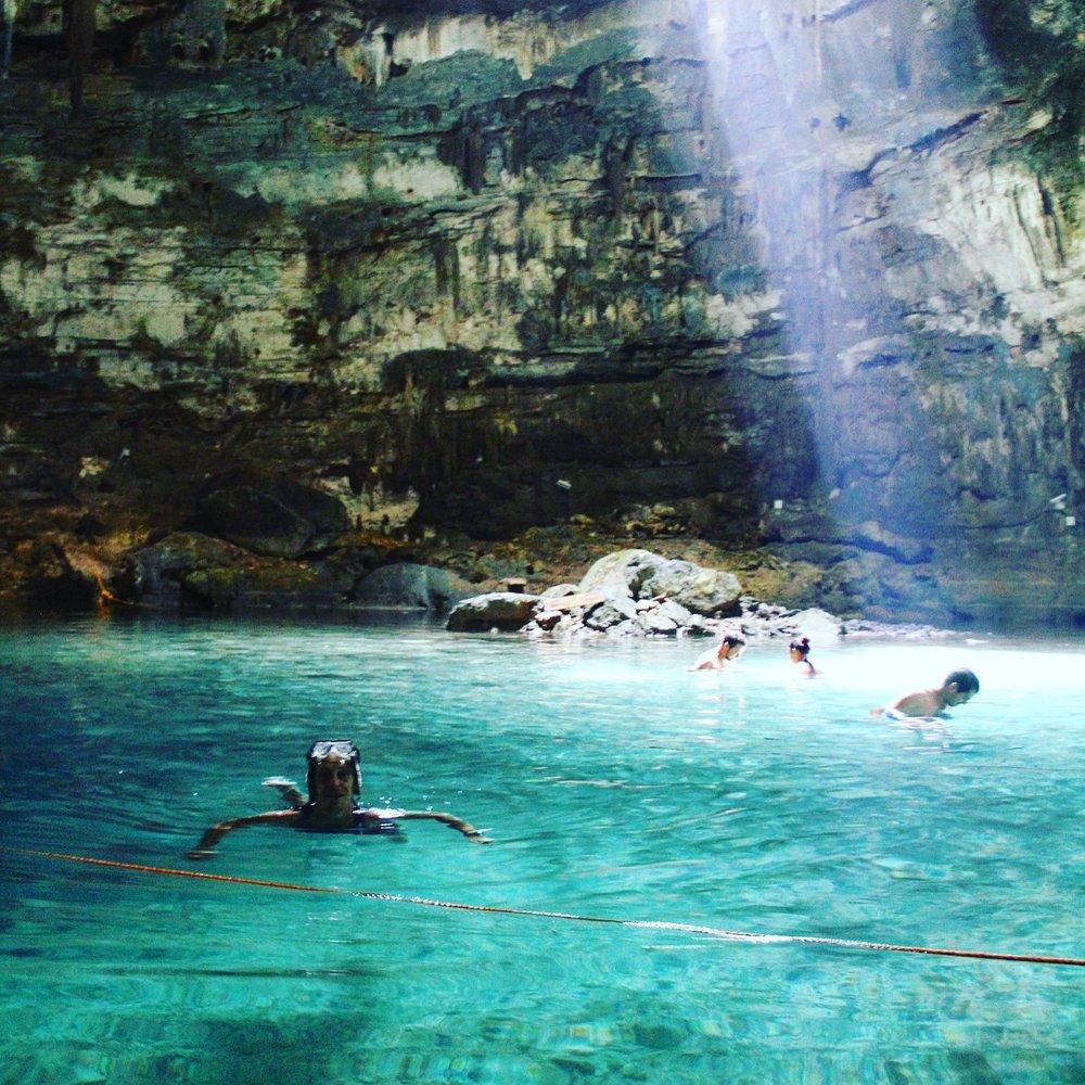 Mike, inside Samula Cenote.