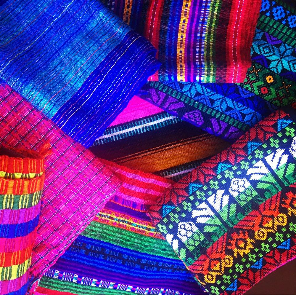 Beautiful handmade fabrics.