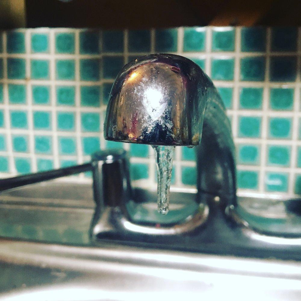 Frozen tap.