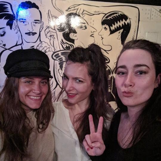 Alexi - @twoofwands, Niree - @nires_knites, and I!