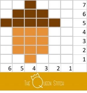 Queen Stitch Acorn Repeat Chart