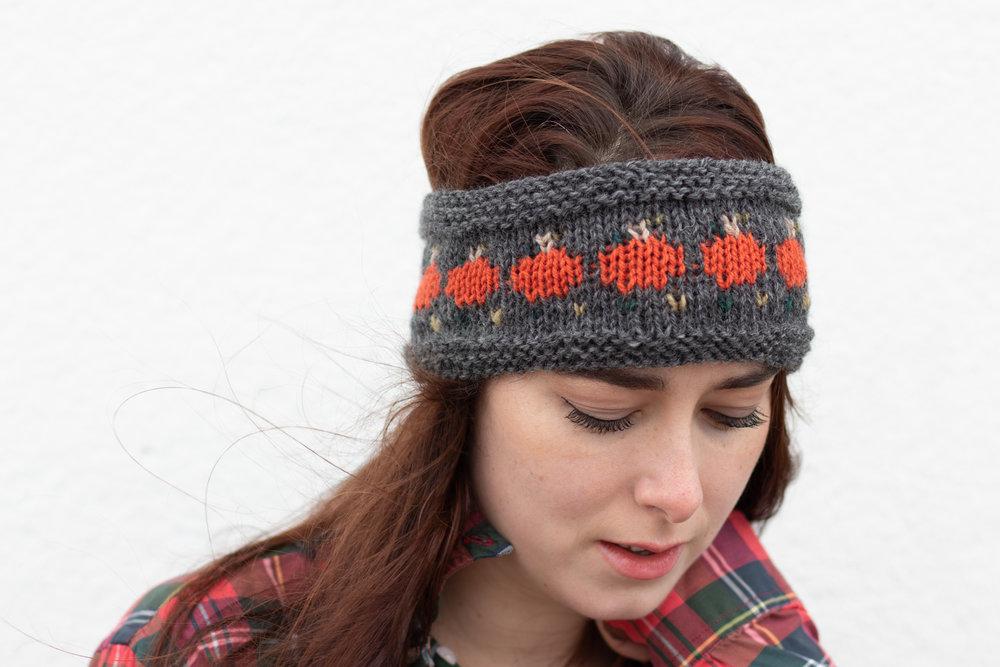 Apres Ski Pumpkin Headband The Queen Stitch