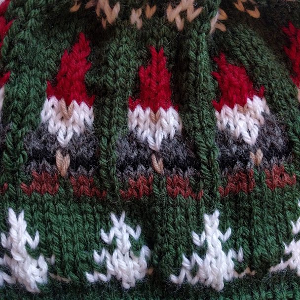 detail of The Fair-Isle Gnome Beanie