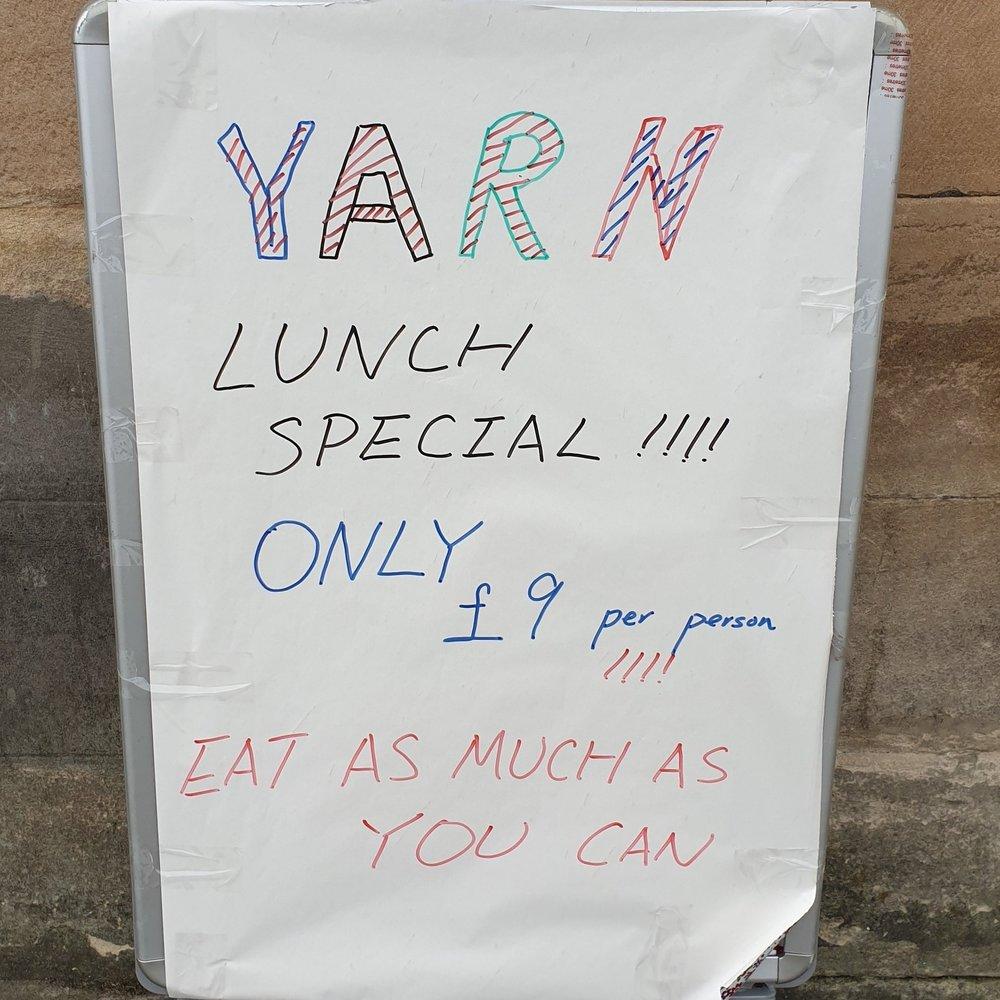 yarn lunch special!