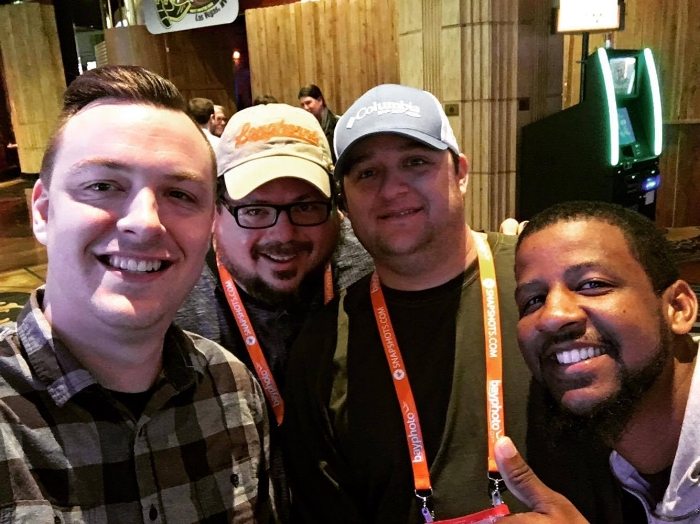 My buddies Jason, Dustin and I with Easton Reynolds (international wedding photographer) at WPPI 2016 in Las Vegas.