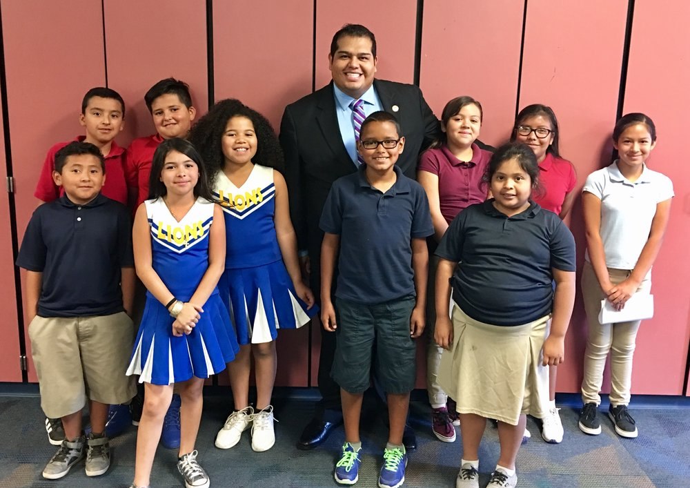 """Visiting our schools is the highlight of my job.  Not only do I get to interact with the children but I get to experience their strive for success.  This allows me to go back to the Capitol and fight with much more passion."""