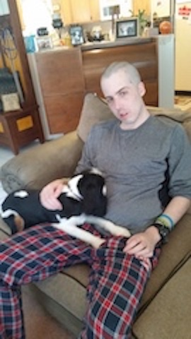 Photo Credit: Sherry Hunter Mitchel and his therapy dog Charles