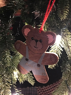 One of her son's ornaments