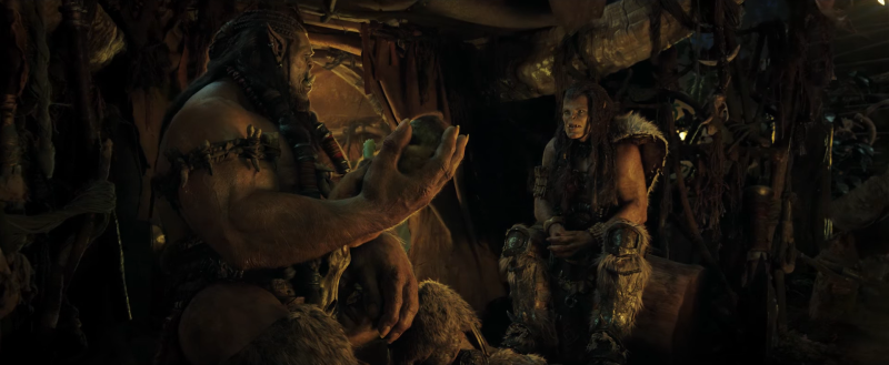 Durotan and Draka discuss the fate of their child