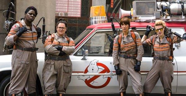 Leslie Jones, Melissa McCarthy, Kristen Wiig and Kate McKinnon star in 'Ghostbusters (2016).
