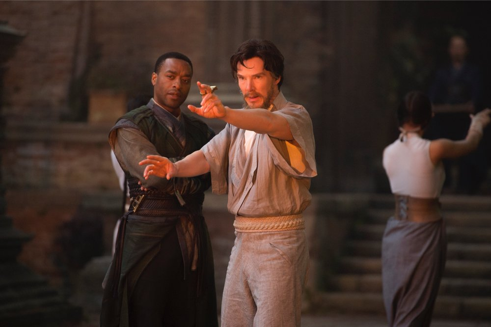 Chiwetel Ejifor's Mordo helps Strange take his first steps into a spiritual realm.