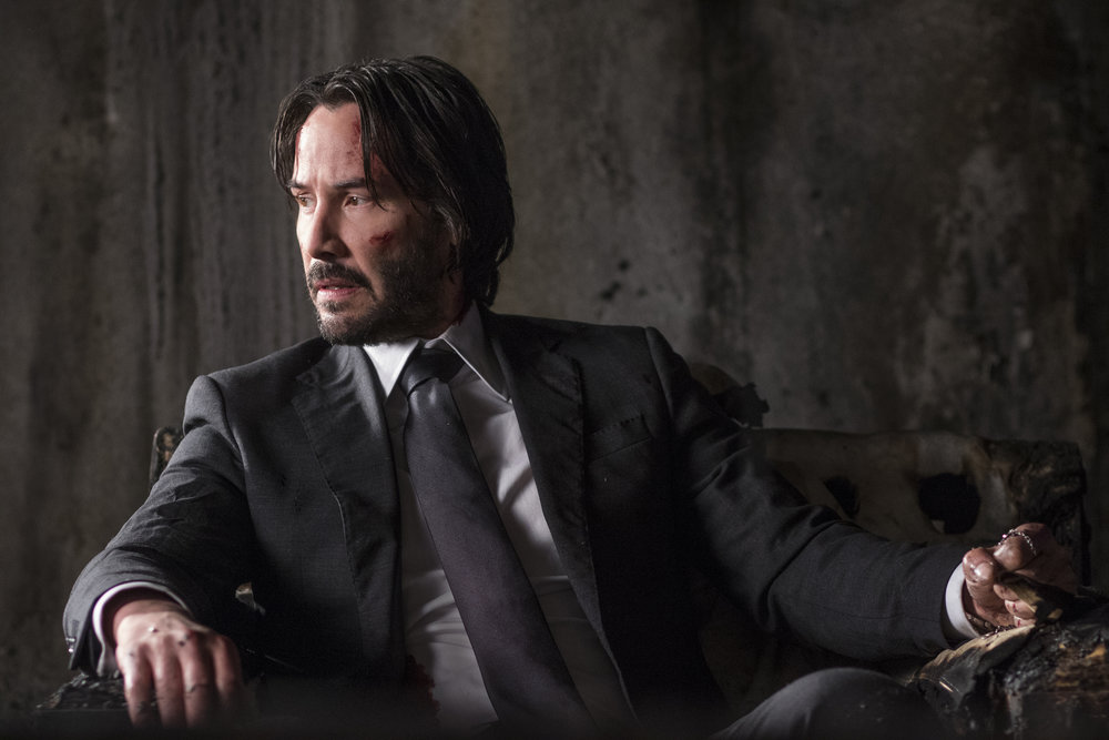 John Wick is so hardcore he's only capable of relaxing in a burnt down house.