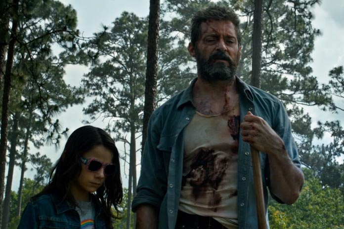 Dafne Keen and Hugh Jackman star in 'Logan'.