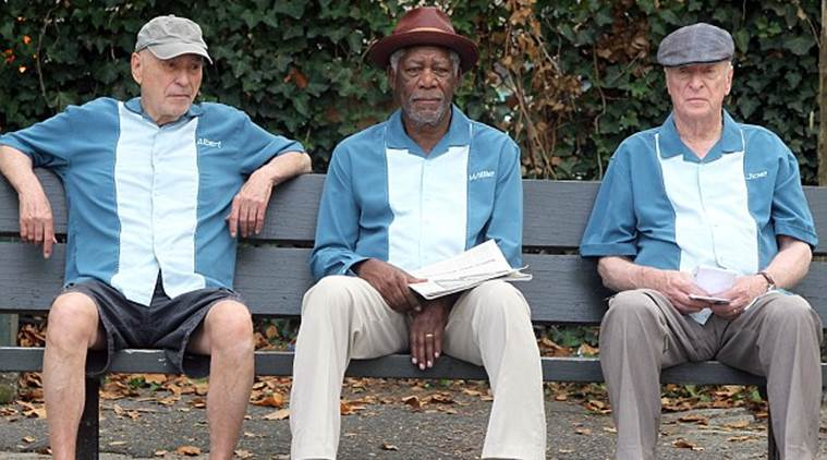 Alan Arkin, Morgan Freeman, and Michael Caine star in 'Going in Style'.