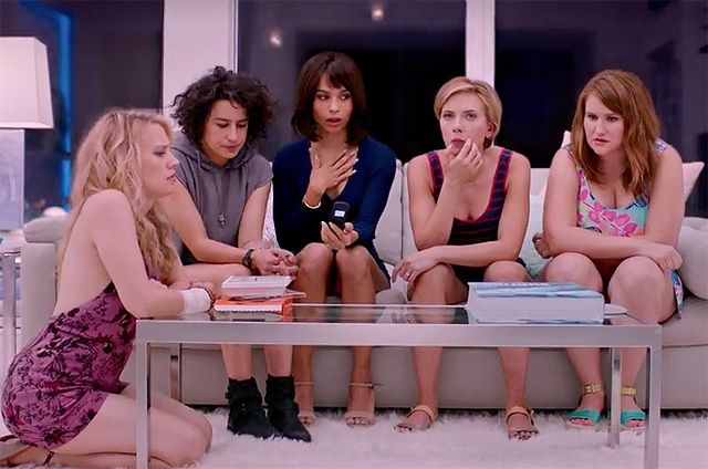 Kate McKinnon, Ilana Glazer, Zoe Kravitz, Scarlett Johansson, and Jillian Bell star in 'Rough Night'.