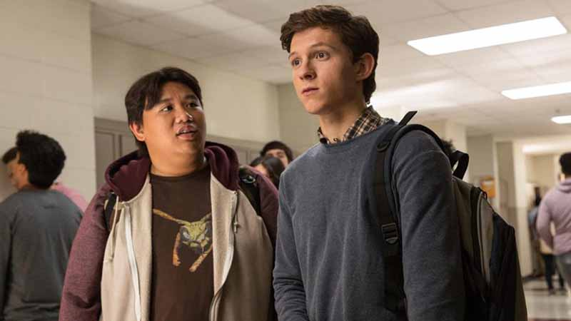 Jacob Batalon and Tom Holland star in 'Spider-Man: Homecoming'.