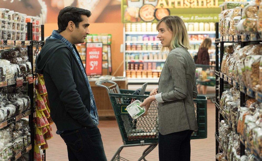 Kumail Nanjiani and Zoe Kazan star in 'The Big Sick'.