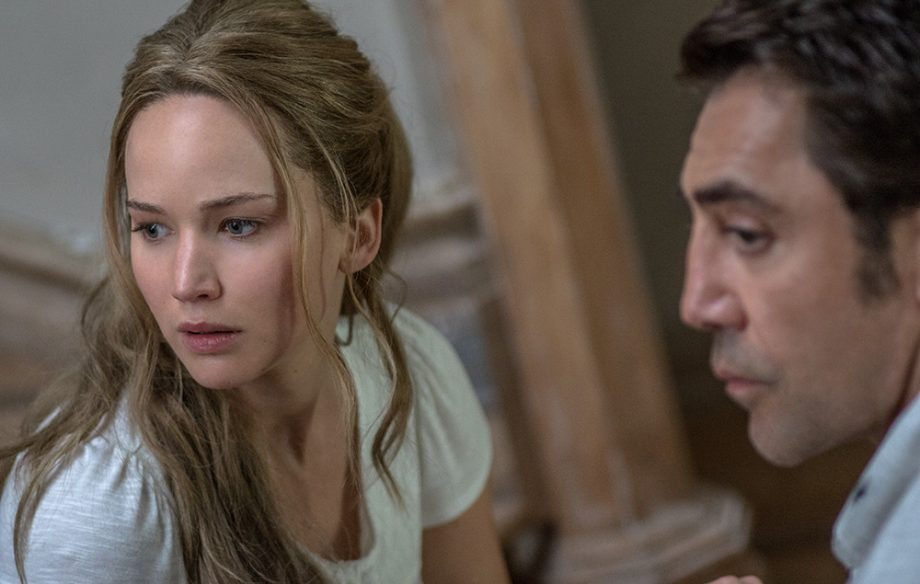 Jennifer Lawrence and Javier Bardem star in 'mother!'.