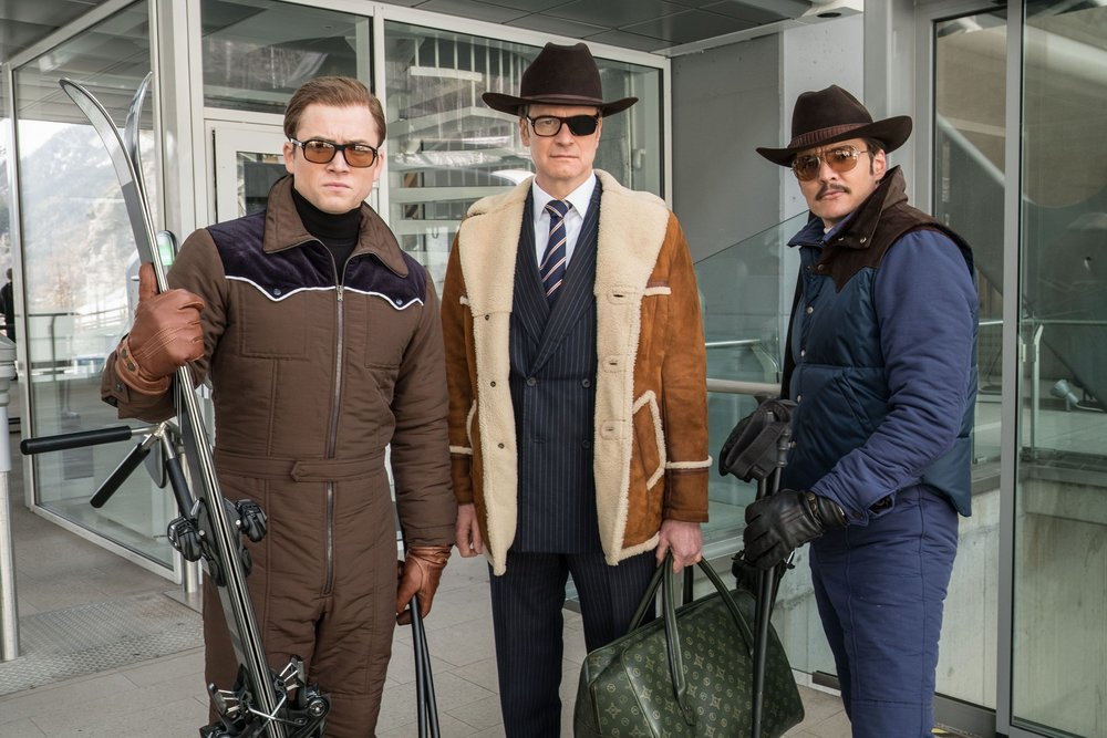 Taron Egerton, Colin Firth, and Pedro Pascal star in 'Kingsman: The Golden Circle'.