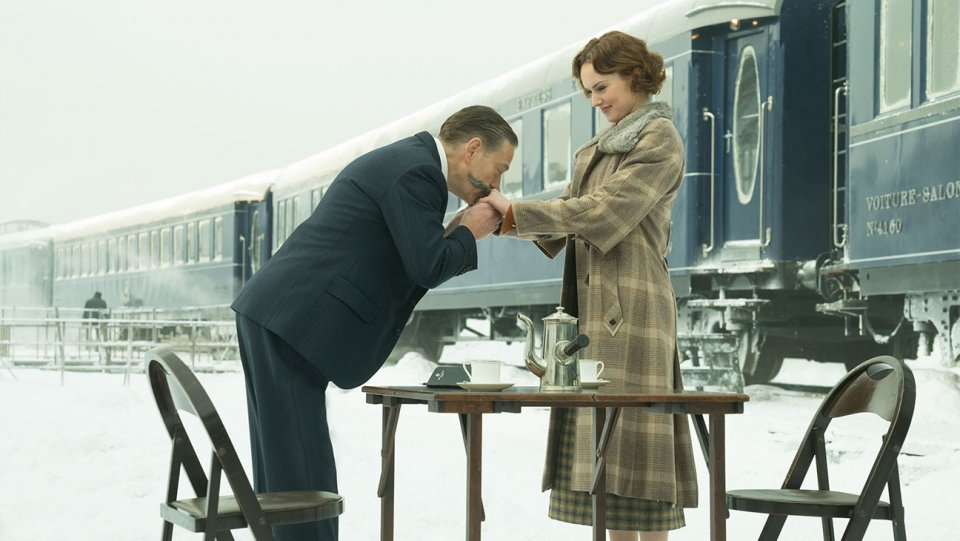 Kenneth Branagh and Daisy Ridley star in 'Murder on the Orient Express'.