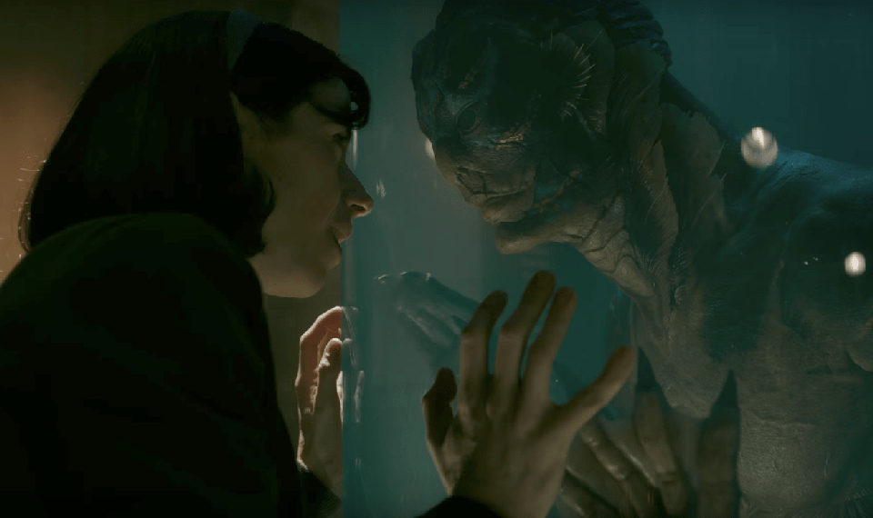 Sally Hawkins and Doug Jones star in 'The Shape of Water'.