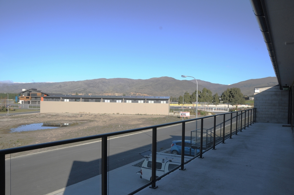 View to the motorsport park from the balcony