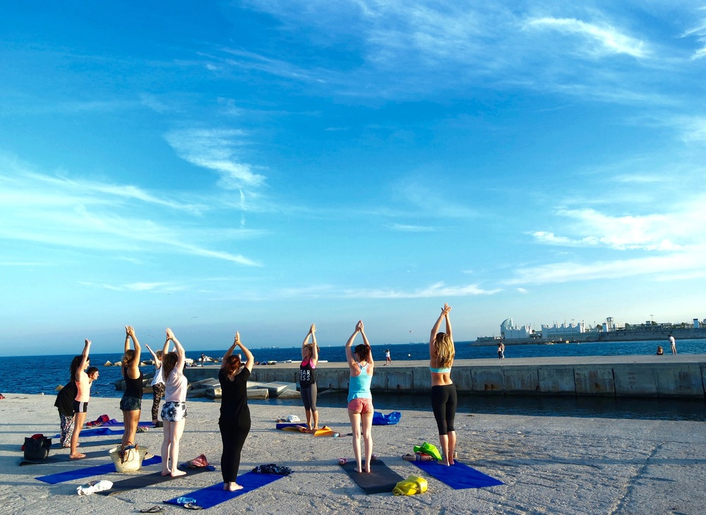 Yoga by the Sea in Barcelona