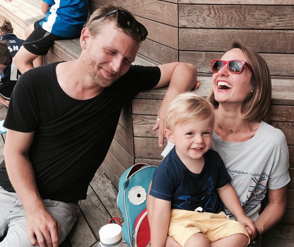 Kasia with her boyfriend Toby and their son Jasper